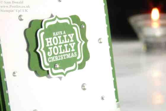 Stampin Up UK Garden Green Jolly Holly Christmas