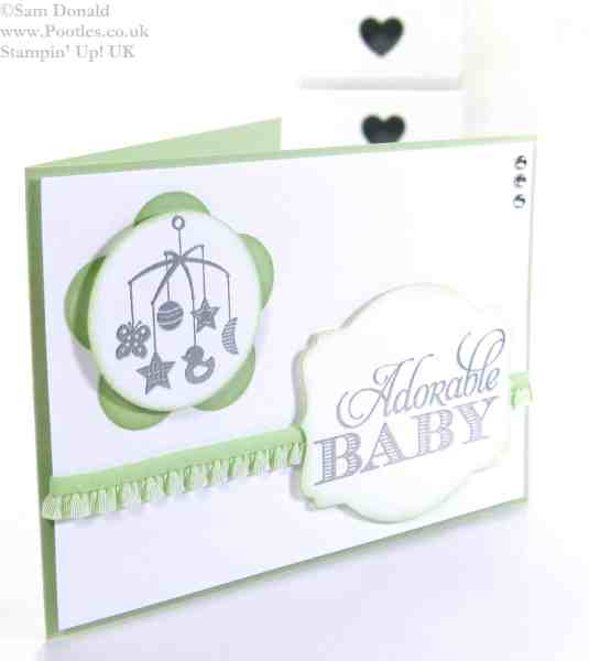 POOTLES Stampin Up UK Baby, the Sweetest Gift 2