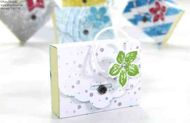 POOTLES Stampin Up UK SPRINGWATCH Scalloped Tag Topper Mini Post It Notes
