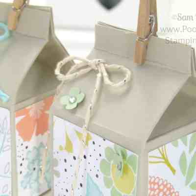 Mini Hand Cut Milk Cartons Tutorial using ©Stampin' Up! UK Supplies