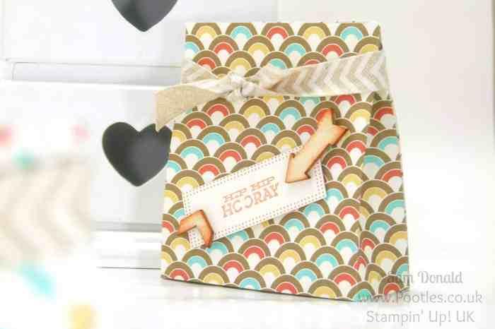 POOTLES Stampin' Up! UK Retro Fresh Bag Tutorial single bag