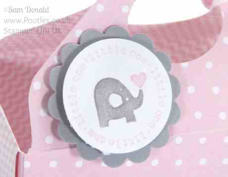 Pootles' Envelope Punch Board The UPSIZED Open Basket Tutorial Original Size A Fitting Occasion detail