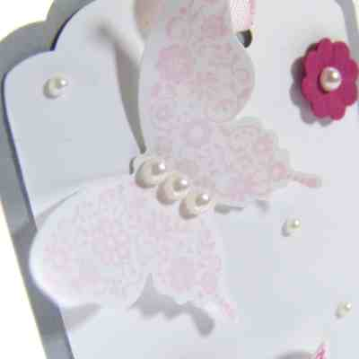 Papillon Pot Pourri Gift Tags using Stampin' Up! Scalloped Tag Topper Punch
