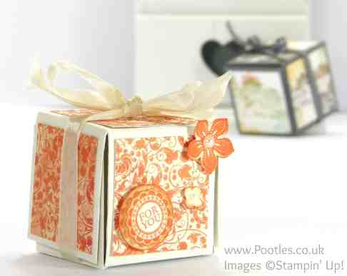 Stampin' Up! UK Independent Demonstrator - Pootles Unusual Fold Out Votive Candle Box Tutorial