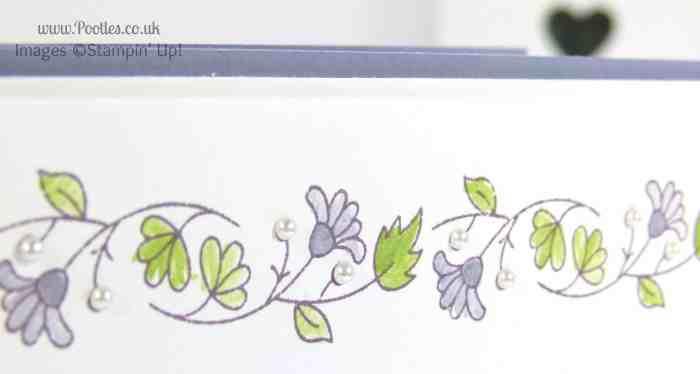 Stampin' Up! UK Demonstrator Pootles - Delicate Floral Thank You Card blender pen detail