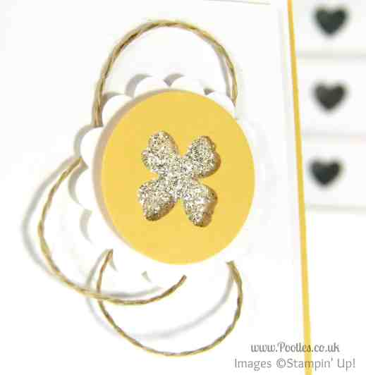 Stampin' Up! UK Pootles - Daffodil Delight Daisy Dreams... Punching close up