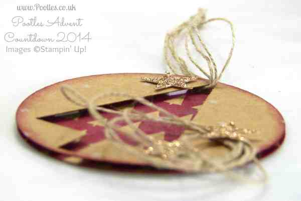 Pootles Advent Countdown #14 Quick N Make It Tag Tutorial side profile