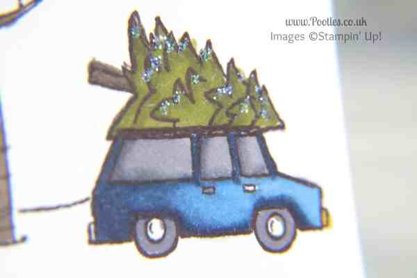 Stampin' Up! UK Independent Demonstrator Pootles - A White Christmas with Stampin' Up! UK close up car