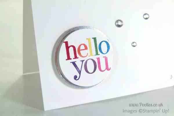 Hello You with Stampin' Write Markers and Stars marker detail