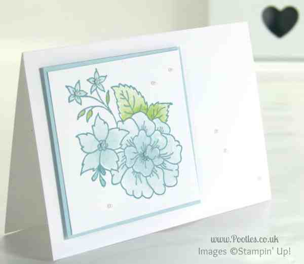 Stampin' Up! UK Demonstrator Pootles - Gentle Card using Stampin' Up! Hostess Exclusive I Like You Set