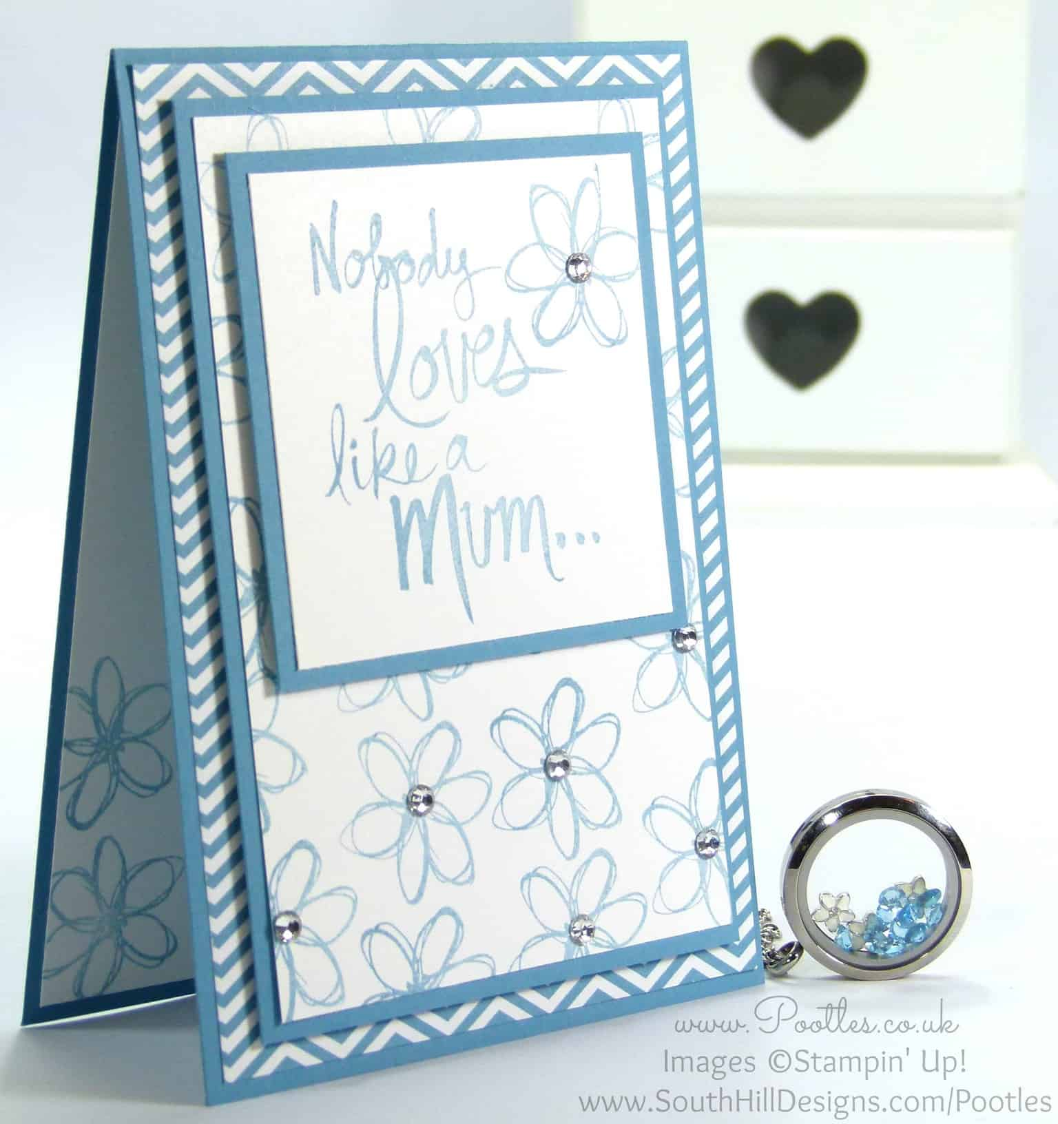 South Hill Designs & Stampin' Up! Sunday Mother's Day Card