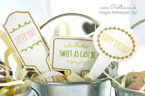 Stampin' Up! Demonstrator Pootles - Handpicked Easter Buckets From The Garden close up