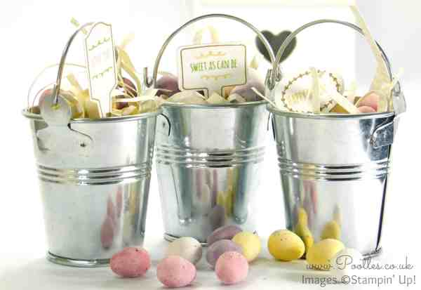 Stampin' Up! Demonstrator Pootles - Handpicked Easter Buckets From The Garden