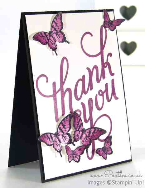 Stampin' Up! Demonstrator Pootles - Another Thank You with Papillon Pot Pourri