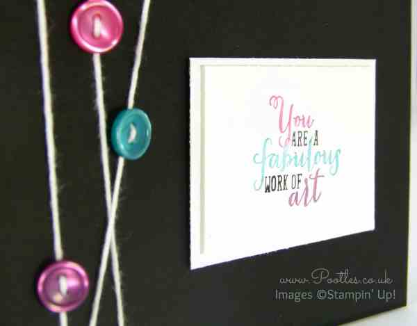 Stampin' Up! Demonstrator Pootles - Bright and Black Work of Art Close Up
