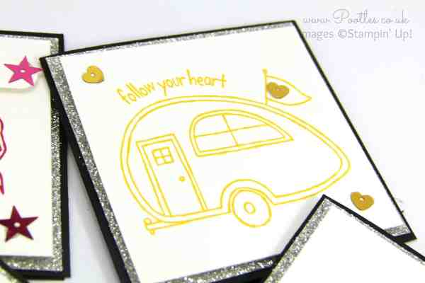 Stampin' Up! Demonstrator Pootles - You're Sublime Set of 3 x 3 Cards Caravan
