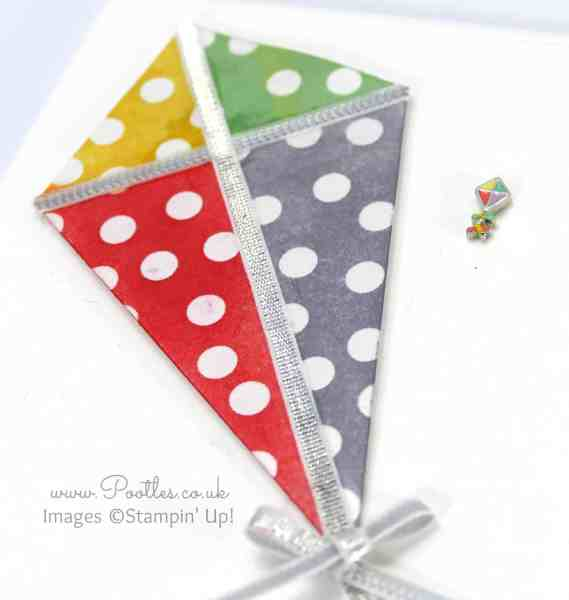 South Hill Designs & Stampin' Up! Sunday Beautiful Sponged Kite Card close up