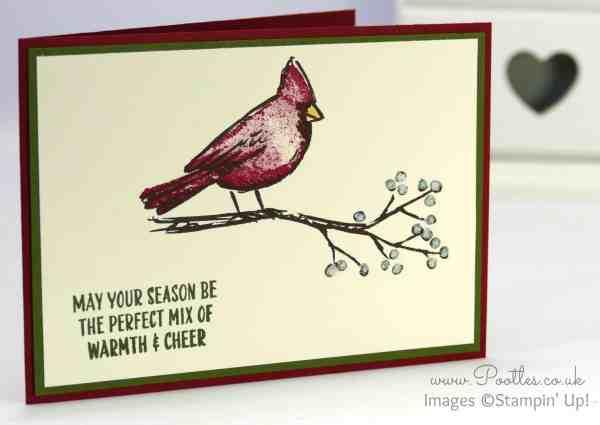 Stampin' Up! Demonstrator Pootles - A Joyful Season Cardinal