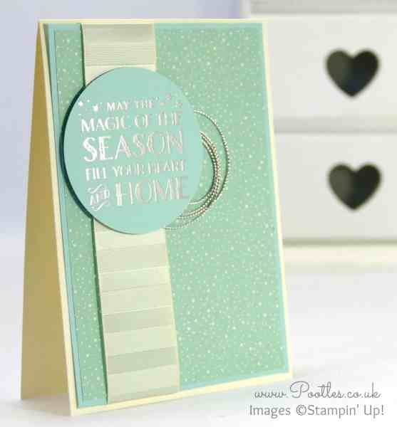Pootlers Blog Hop - Cozy Christmas Silver Card