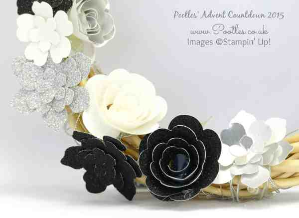 Pootles Advent Countdown #3 Christmas Wreath Tutorial Close Up