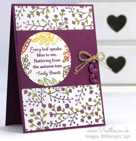 Stampin' Up! Demonstrator Pootles - Lighthearted Leaves go Into the Woods
