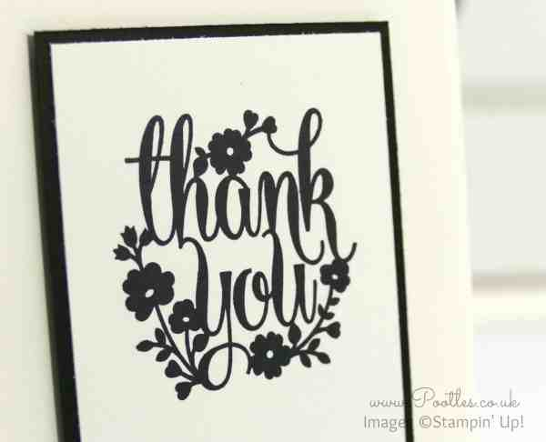 Stampin' Up! Demonstrator Pootles - A Whole Lot of Lovely - Thank you Card Close Up