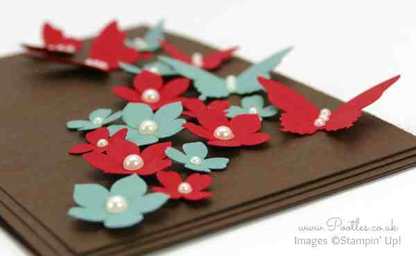 Stampin' Up! Demonstrator Pootles - Colour Clash Butterflies and Flowers Side Profile