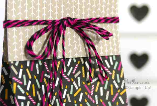 Stampin' Up! Demonstrator Pootles - It's My Party Huge Bag using Stampin' Up! DSP Baker's Twine