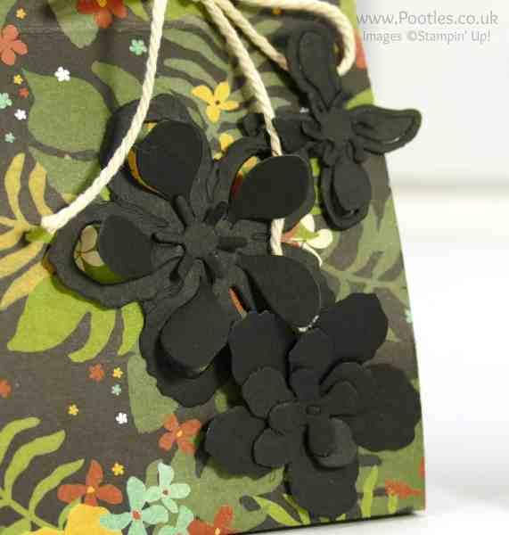 Stampin' Up! Demonstrator Pootles - Botanical Gardens Paper Bag Tutorial Framelits