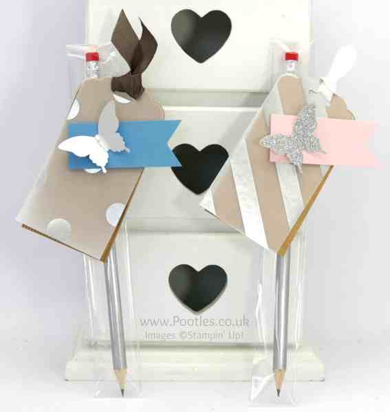 Stampin' Up! Demonstrator Pootles - Stampin' Up Customer Thank You Wrapped Pencils