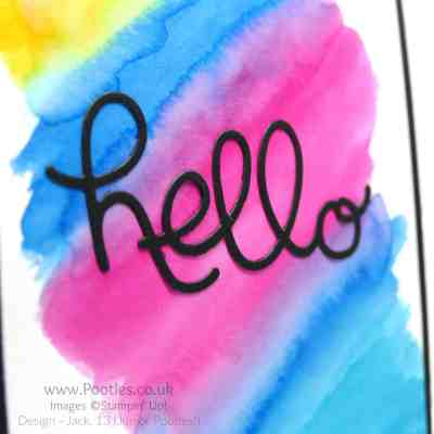Watercoloured Card – Neo Chrome Inspired!