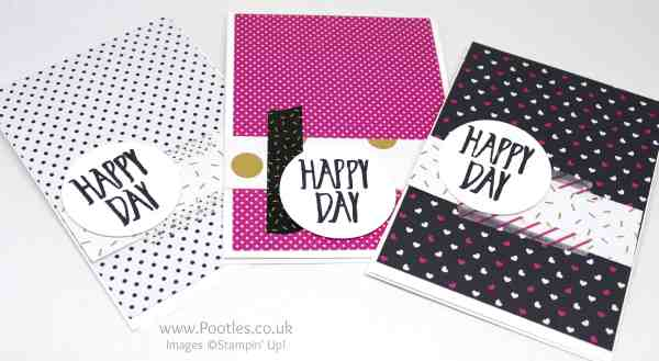 Stampin' Up! Demonstrator Pootles - Pop of Pink Customer Thank You Cards White Card Blank