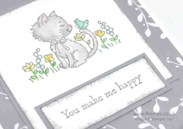 Stampin' Up! Demonstrator Pootles' Saturday Challenge 001 Pretty Kitty Close UP