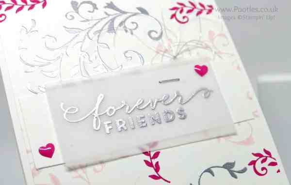 Stampin' Up! Demonstrator Pootles - At First Sight we are Forever Friends! Heat Embossing Detail