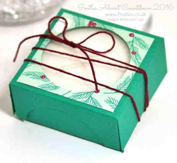 Pootles Advent Countdown 2016 Jumbo Tea Light Window Box Presents and Pinecones