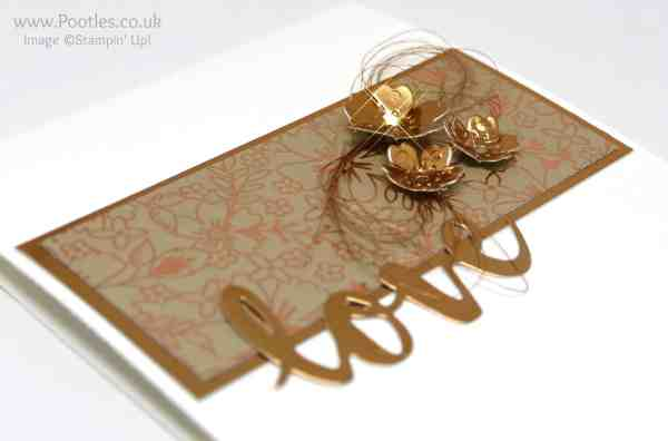 Stampin' Up! Demonstrator Pootles - Affectionately Yours and some Die Cut Bronze! Sunshine Wishes Die