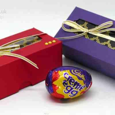 Regal Triple Creme Egg Box using Stampin' Up! Foil Window Sheets