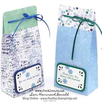 New Stampin' Up! Catalogue Day! Tranquil Textures Delicate Trio Bag