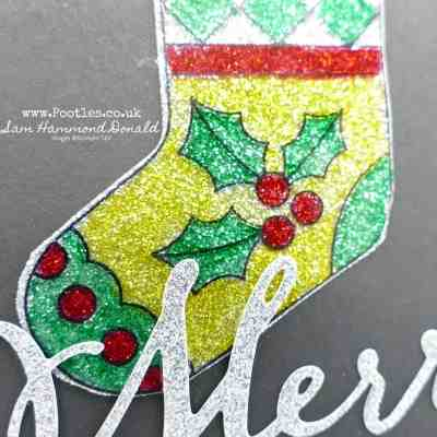 Great Joy Blends Window Sheets and Glimmer Paper Card Idea