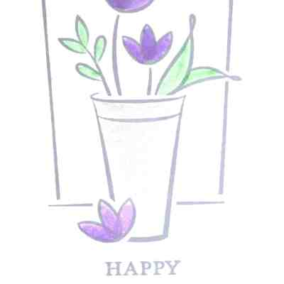 Blender Pen Wash with Just Because for Mother's Day