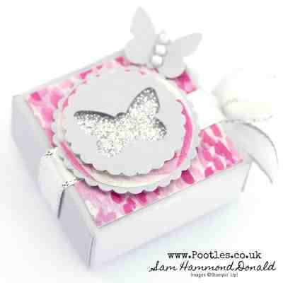 Tiny Fold Over Punched Box for Yankee Candle Tea Light