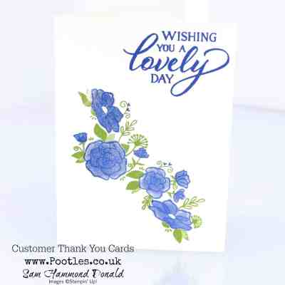 Forever Lovely Stamparatus Customer Thank You Notecards
