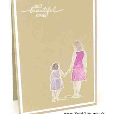Beautiful Moments a White Washed Card