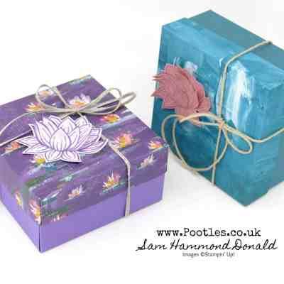 Easy Lidded Lily Pad Box Tutorial