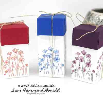 How to make an easy Painted Poppies Lidded Box