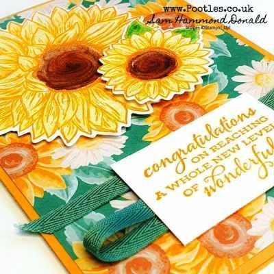 Bright Celebrate Sunflower Card Idea