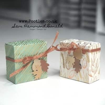 Easy Mini Gift Box Tutorial using Gilded Autumn