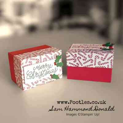How To Make a Candy Cane Topped Christmas Gift Box