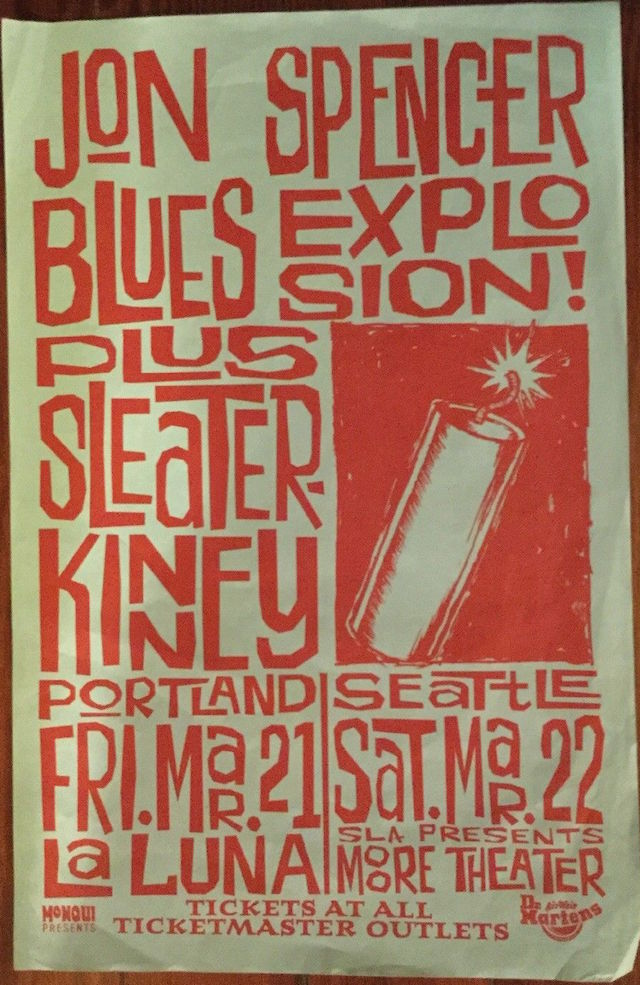 La Luna (théâtre) : (théâtre), Spencer, Blues, Explosion, Luna,, Portland, Moore, Theatre,, Seattle,, (21/22, March, 1997), Pop-Catastrophe.co.uk