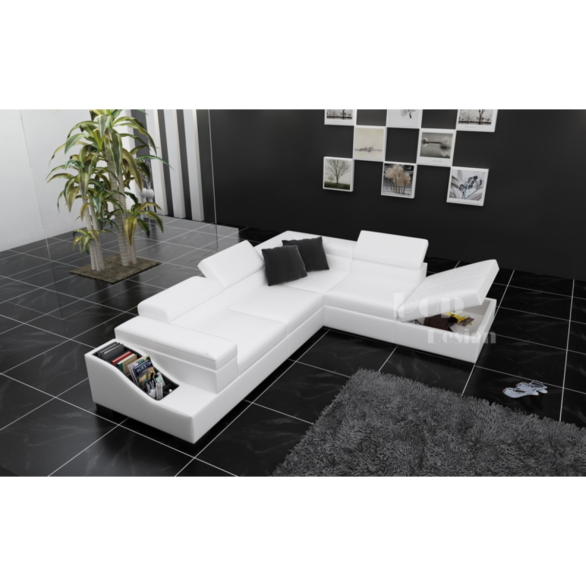 Grand Canape D Angle En Cuir Jazzy L